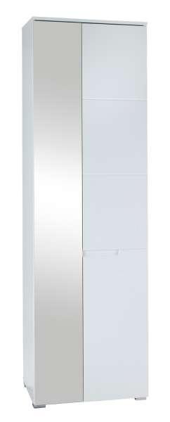 Garderobenschrank, weiß hochglanz, 60x198x40 cm