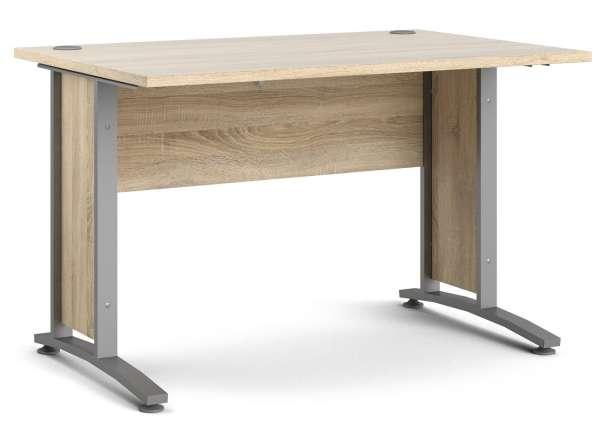 Schreibtisch silberfarbig, grau