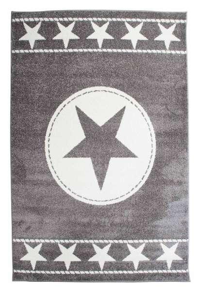 Teppich SOUND 31, B 120 x L 170 cm, Grau mit Sternen