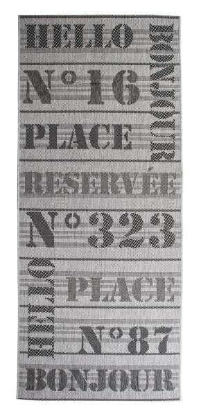 In- und Outdoorteppich COVER  grau, Grau, 80x200 cm