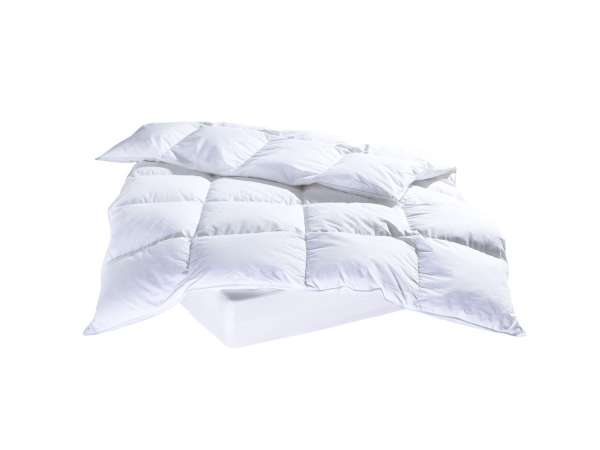 Bettdecke silberweiße Pyrenäen-Daunen-Federn, 155x220 cm
