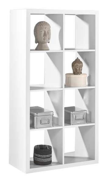 moderner raumteiler in wei mit 4 ablagef chern sonja 4 m bel jack. Black Bedroom Furniture Sets. Home Design Ideas
