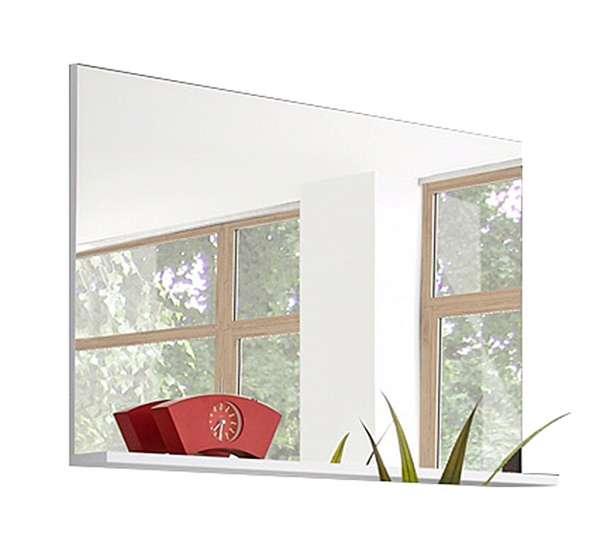 Spiegel MIRAMAR 3, 100x68 cm, Weiß Dekor, mit Ablage