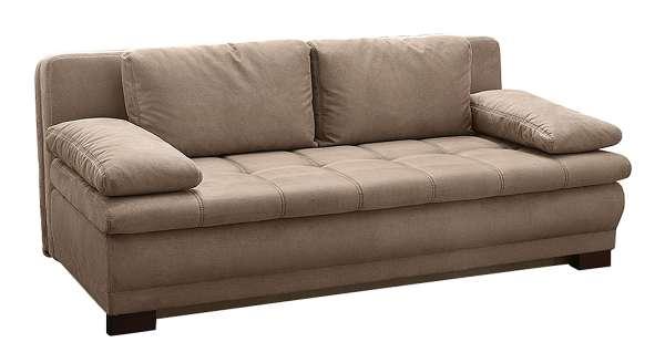 Schlafsofa LEVI, B 203 x T 107 cm, Greige, mit Schlaffunktion & Bettkasten