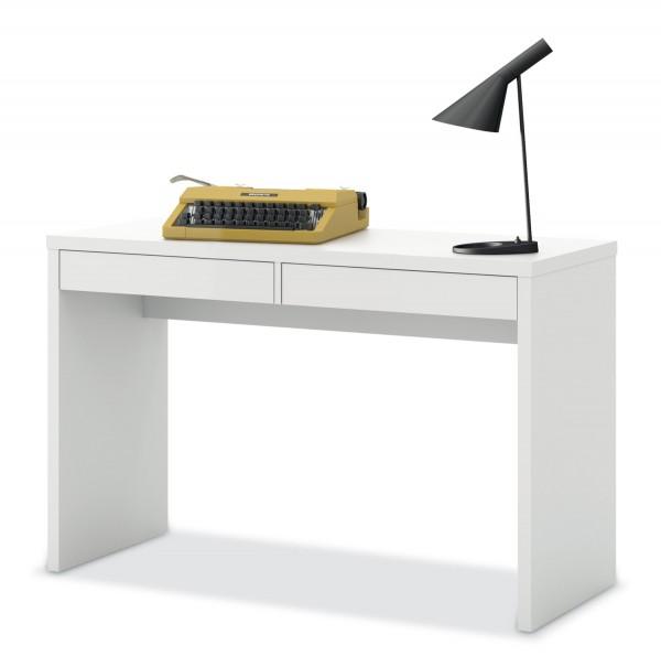 Schreibtisch DELIO 1, Weiß matt Lack