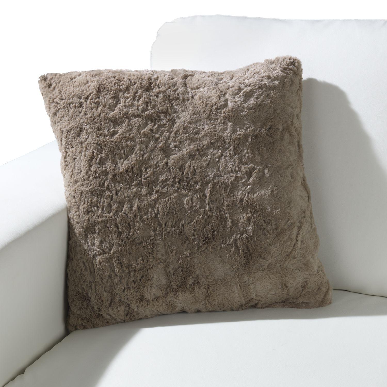 sofakissen in stone 45 x 45 cm gro felloptik kuschel 11. Black Bedroom Furniture Sets. Home Design Ideas