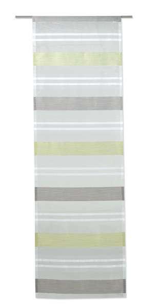 Flächenvorhang KIRA 3, Kiwi-Schlamm, Transparent, 60x245 cm