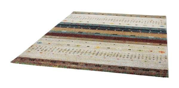 Teppich ETHNO 3, B 80 x L 150 cm, Creme-Rot, Ethnomuster