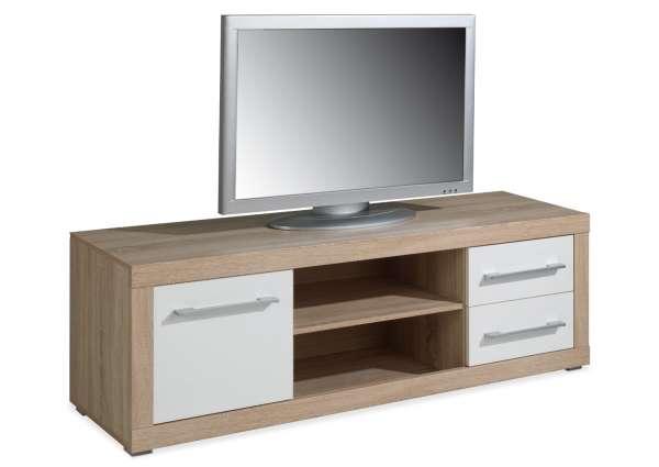 TV-Lowboard CHARLIE 5, Hochglanz Weiß