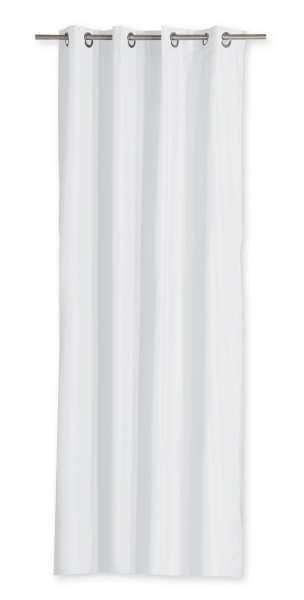 Vorhang Ösenschal Ösenvorhang 140x240 cm, Weiß Polyester