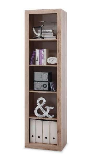 b roregal in eichedekor sanremo mit viel stauraum claudine 3 m bel jack. Black Bedroom Furniture Sets. Home Design Ideas
