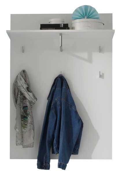 Garderobenpaneel SABIA 2, weiß hochglanz, mit Ablage