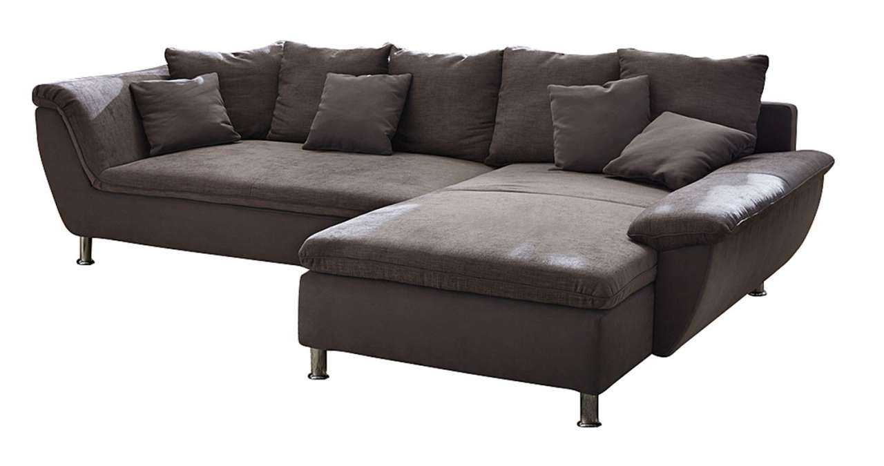 Sofa couch amy b 300 x t 194 cm braun microfaser inkl for Sofa microfaser