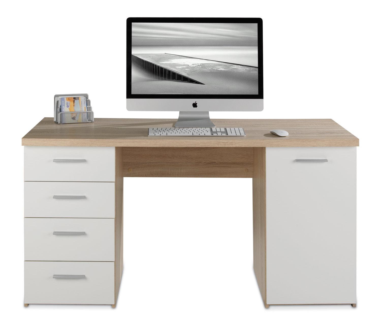 Schreibtisch NANNIE 1, Weiß Dekor