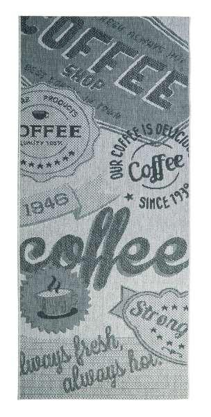Outdoorteppich COFFEE grau, UV-beständig, wasserabweisend, 80x200 cm