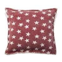 Kissenhülle CELESTE 1, Rot mit weißen Sternchen, 50x50 cm