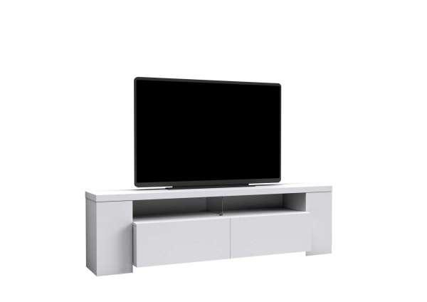 tv lowboard weiss hochglanz b 190 cm 2 klappen 2 turen
