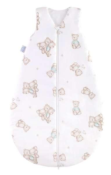Babyschlafsack Kinderschlafsack 90 cm, Mint, Bärenmotiv