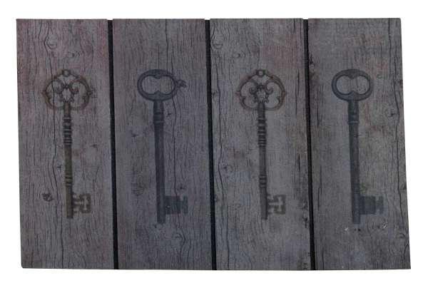 Fußmatte Schmutzfangmatte, Schlüssel, Braun, 45 x 75 cm