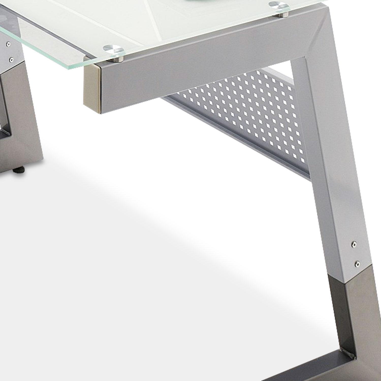 Schreibtisch WALKER 2, Weiß/Klar
