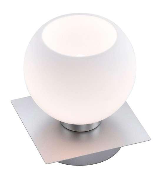Tischlampe Nachttischlampe LOTTA 5, H 12 cm, Silberfarben, Stahl