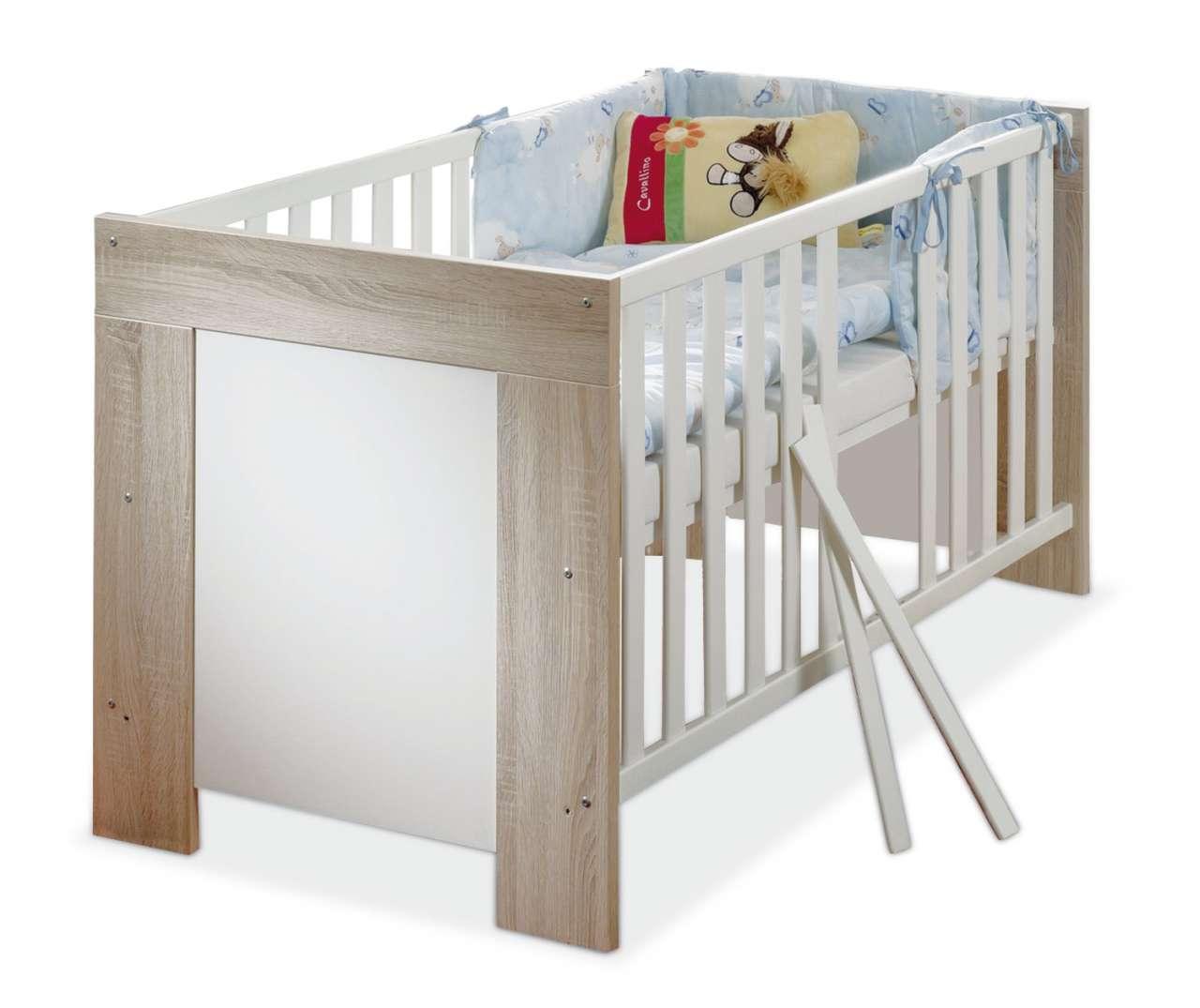 Kinderzimmer & Junges Wohnen Babybettgestell BETTINA 1, Weiß
