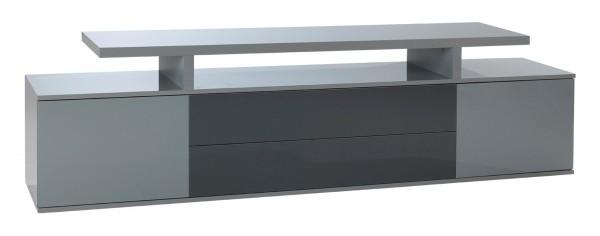 TV-Lowboard JIM 1, grau hochglanz, 200 cm breit