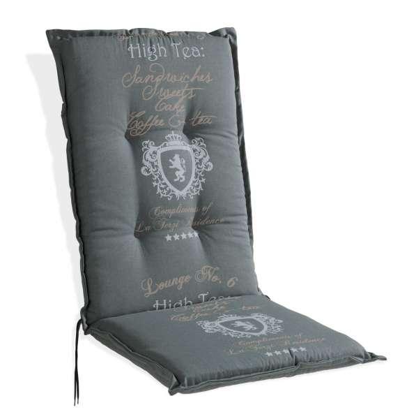 Sesselauflage ANTON 1, Grau mit Wappen