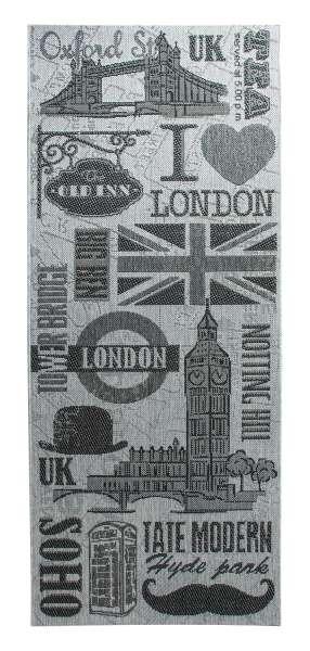 In- und Outdoorteppich LONDON, 80x200 cm