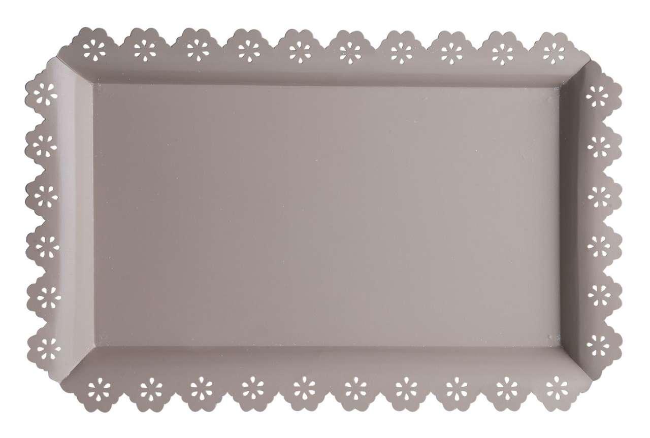 moebel-jack.de Tablett FLORILLA 11, B 46 x T 30 cm, Grau-Braun, Metall