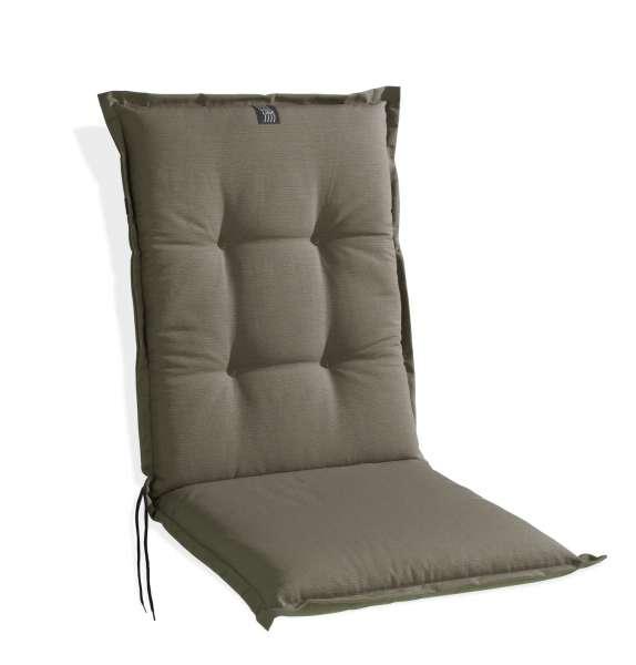 Sesselauflage Sitzpolster Gartenstuhlauflage TAUPE 5, Taupe Uni