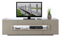 TV-Lowboard JIM 2, sand hochglanz, 180 cm breit
