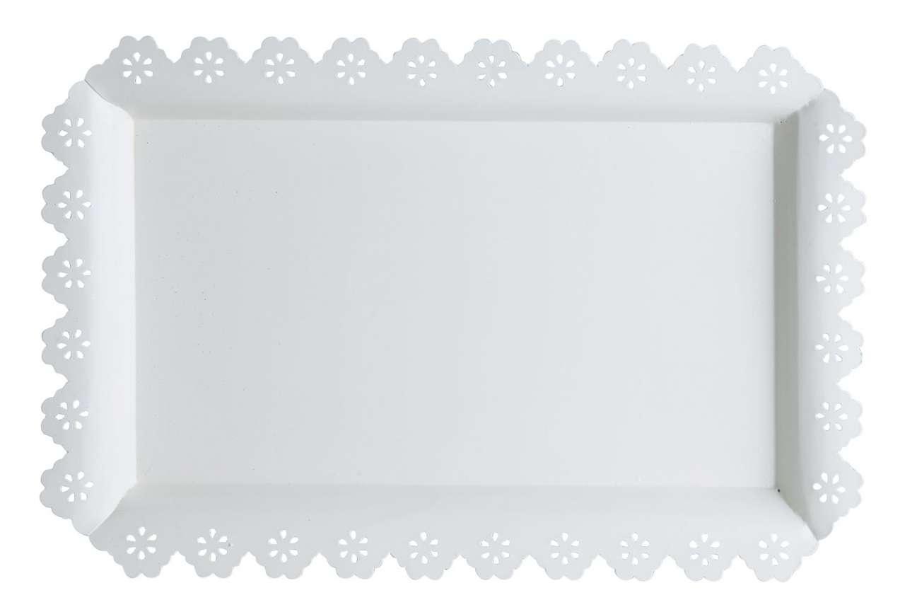 moebel-jack.de Tablett FLORILLA 12, B 46 x T 30 cm, Natur, Metall