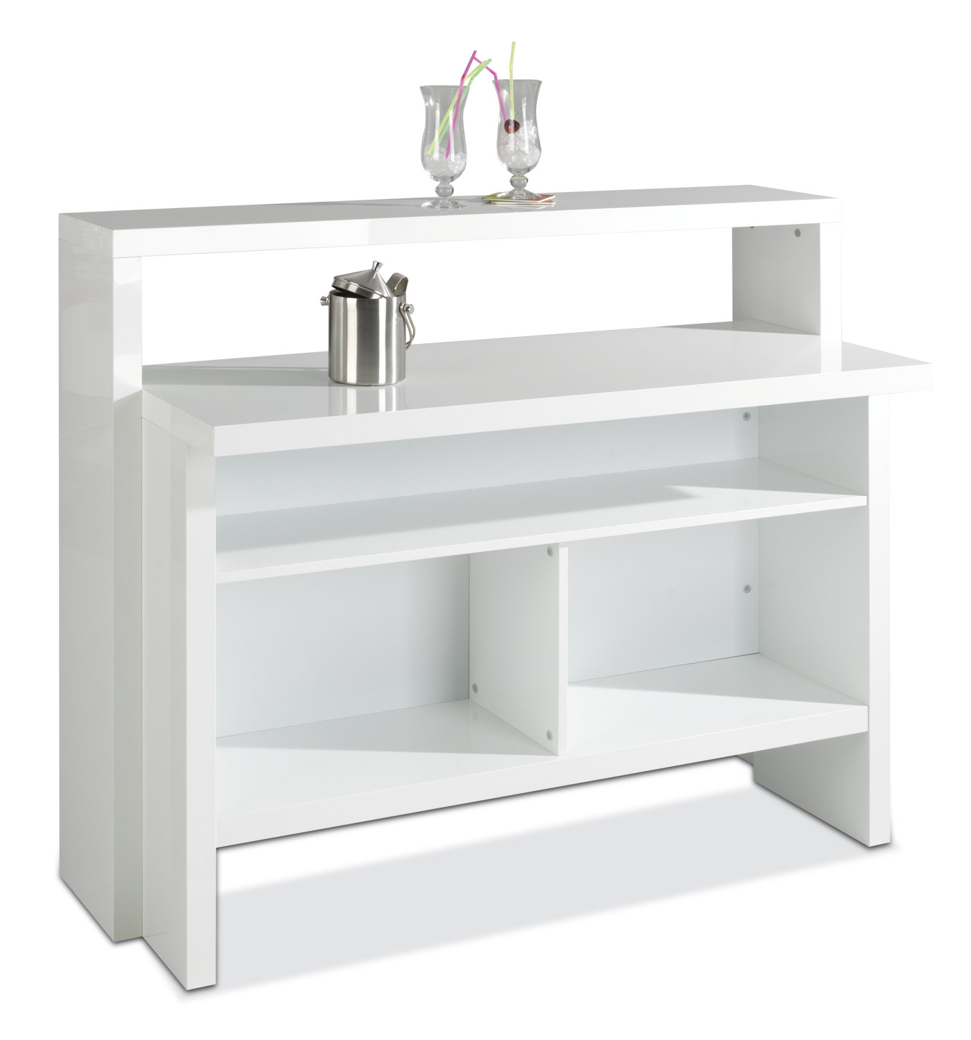 moderne minibar in wei em dekor mit praktischem regal scully m bel jack. Black Bedroom Furniture Sets. Home Design Ideas