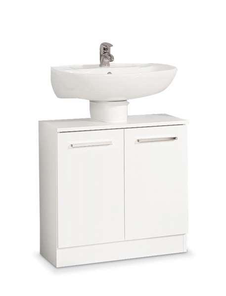 Waschbeckenunterschrank BASTIAN, Dekor Weiß glänzend