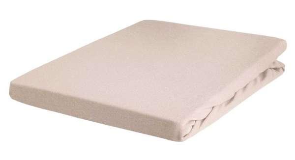 Bettlaken Spannbetttuch BERTINA 9, 180x200 cm, Natur Baumwolle, Rundumgummi