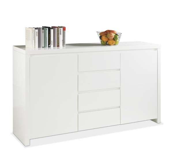 Sideboard LEE 1, Weiß Hochglanz