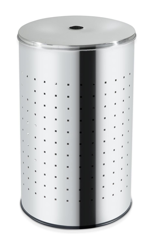 Wäschetonne BARREL, Edelstahl, glänzend, ca. 37 Liter, 54 cm hoch