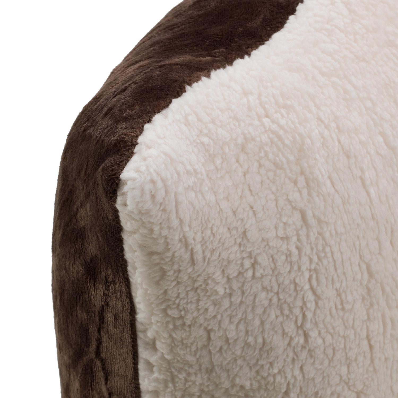 Kissenhülle SHERPA 6 dunkelbraun, 50x50 cm