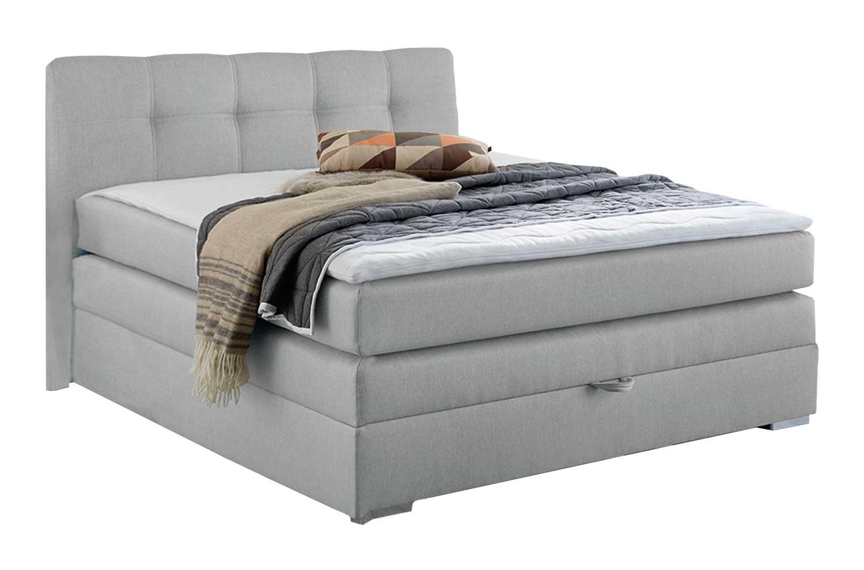 boxspringbett 140 x 200 cm aus stoff in grau mit bettkasten aria m bel jack. Black Bedroom Furniture Sets. Home Design Ideas