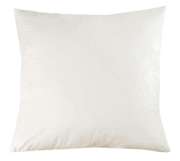 Kissen Kissenfüllung 50x50 cm, Weiß, Baumwolle-Entenfedern