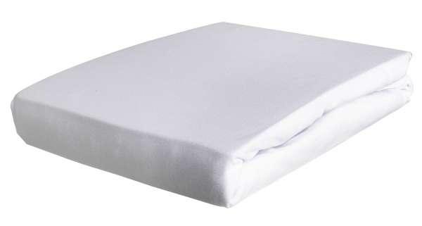 Boxspring-Spannbettlaken Spannbetttuch BOXXY 11, 180x220 cm, Weiß, Elastic Jersey