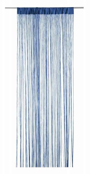 Vorhang Fädenvorhang, Blau Polyester, B 110 x L 250 cm