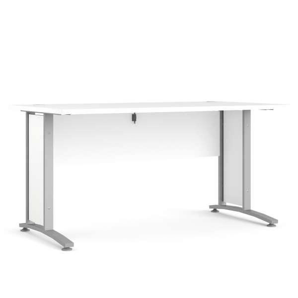 Schreibtisch Silbergrau, Weiß