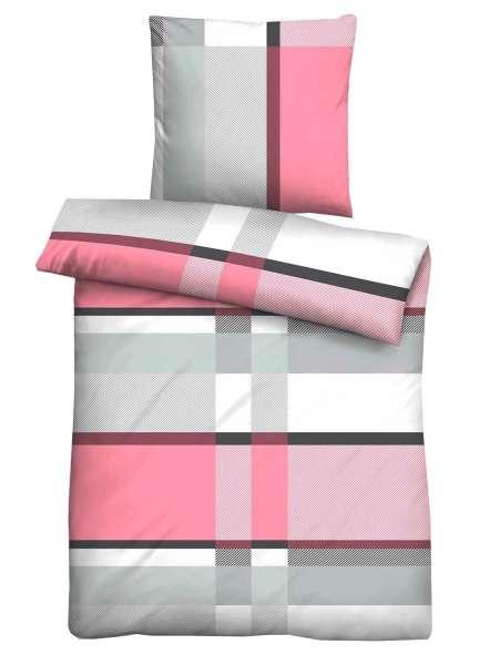 Bettwäsche Aus Baumwolle In Rosa Mit Reißverschluss 135 X 200 Cm