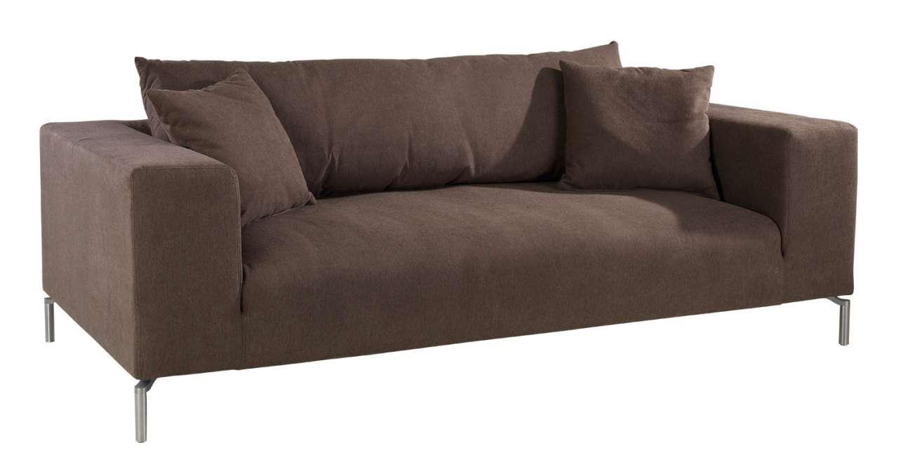 moebel-jack.de 2,5-Sitzer Sofa CORTONA 1, B 217 x T 103 cm, Schlamm, Webstoff