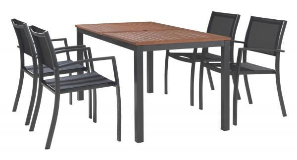 gartenmobel set alu 5 teilig. Black Bedroom Furniture Sets. Home Design Ideas