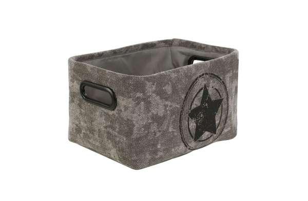 Aufbewahrungskorb, Aufbewahrungsbox ILJANA 2, Grau, 30x20x16 cm