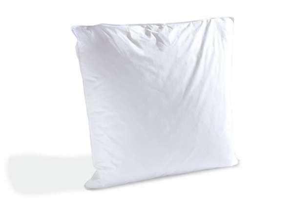 kopfkissen merida 1 80x80cm mit pyren ischen federn kl1 gef llt 1kg gewicht waschbar bis ca. Black Bedroom Furniture Sets. Home Design Ideas