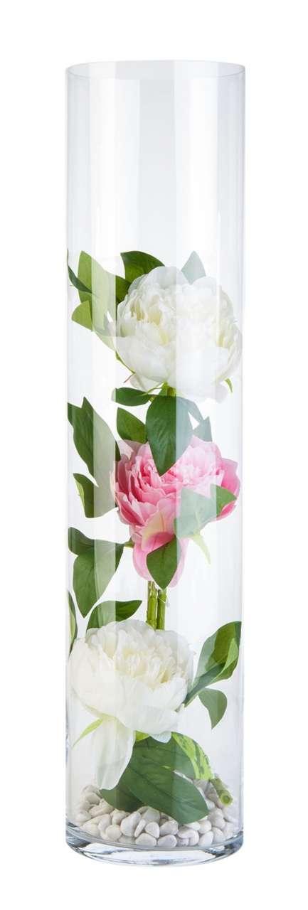 moebel-jack.de Vase CANDA, H 70 cm, Klar, Glas